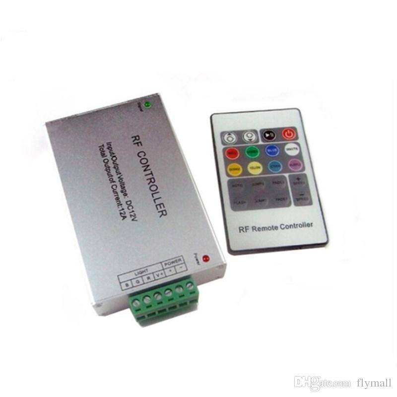 DC12V-24V 12A Controlador remoto inalámbrico RF LED 20 Controlador led rgb clave para SMD 5050 3528 Módulos de luces de tira LED