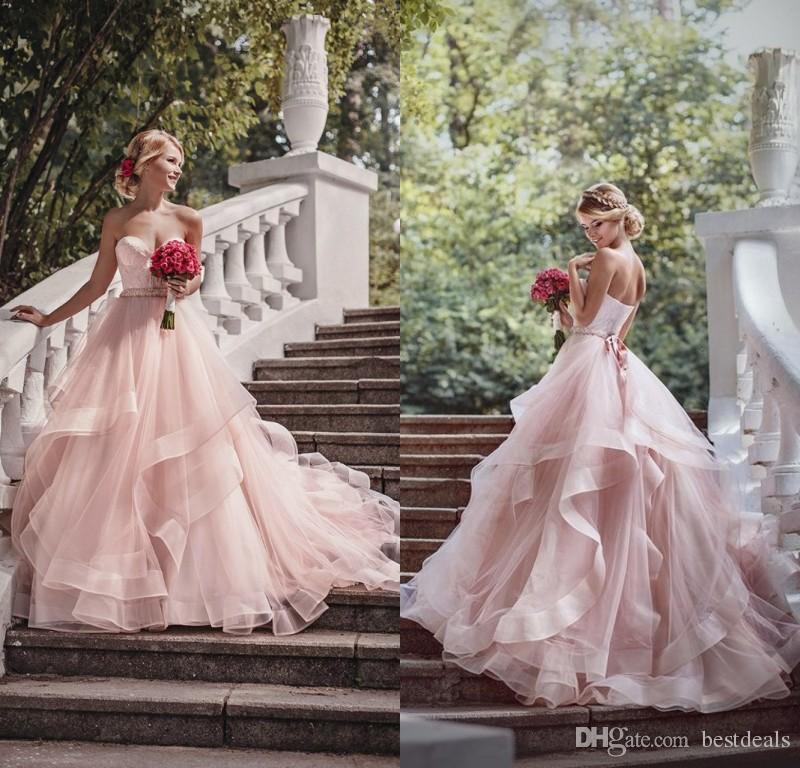Discount Vintage 2017 Blush Pink Wedding Dresses Off