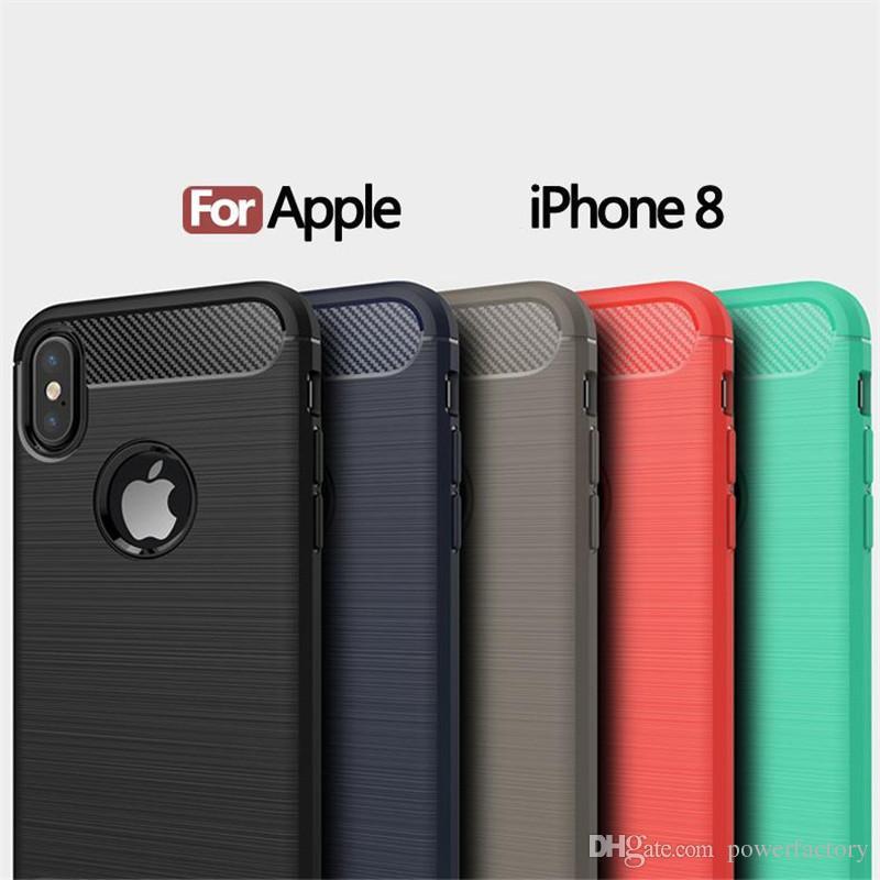 Custodia armature morbide in fibra di carbonio in fibra di carbonio iPhone X XS XR MAX 8 7 6 6S Plus Galaxy S9 S8 Plus Nota 9 8 S7 Cover Edge