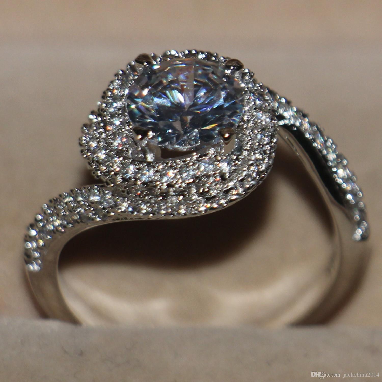 2017 Size 5 6 7 8 9 10 Brand Desgin Luxury Jewelry 925 Sterling