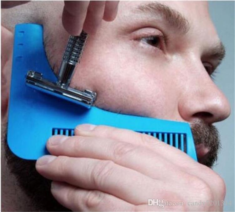 턱수염 형 쉐이핑 도구 템플릿 스타일링 템플릿 턱수염 모델링 도구 용 수염 쉐이프 빗 DHL A08에 의한 색 배 10