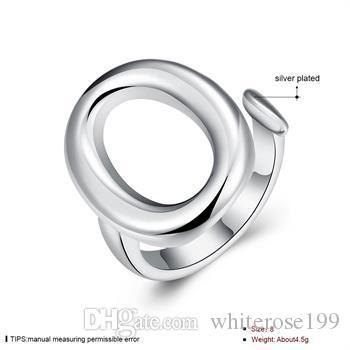 Commercio all'ingrosso - regalo di Natale di prezzi più bassi al minuto, trasporto libero, nuovo anello di modo d'argento 925 yR009