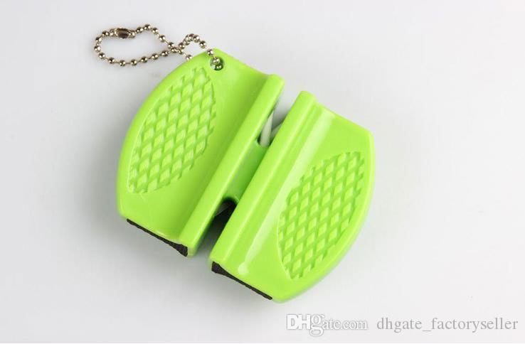 Mini aiguiseurs rapides poche carbure de tungstène tige en céramique aiguiseur double rainure et design portable vente chaude