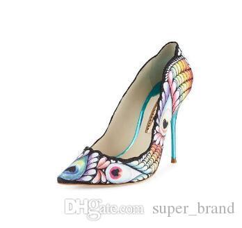 1b3ad8d8fb71a0 Großhandel Bunte Pumps Neue 2016 Designer Spitz Zehe Leder Schuhe Stilett  Sophia Webster Party Kleid Schuhe Marke Weibliche Pumps Sweet Von  Super brand
