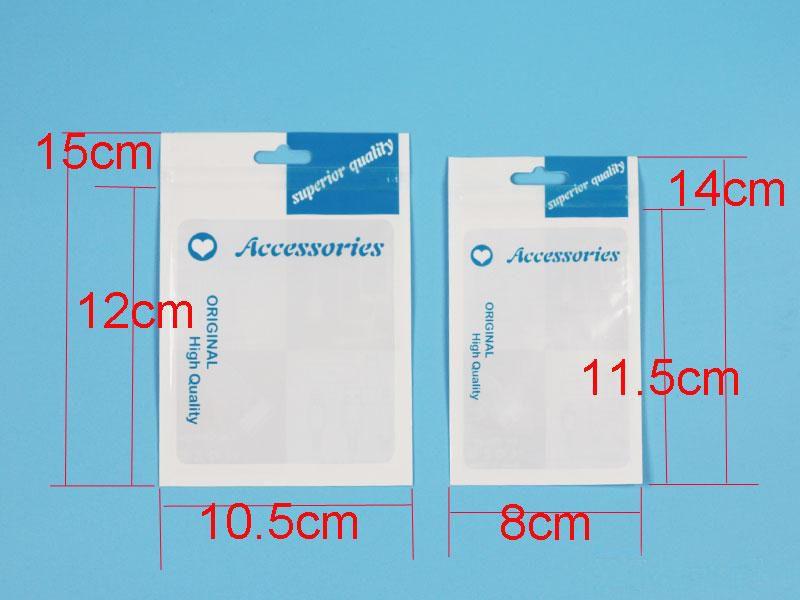 Kunststoff Zubehör Einzelhandel Verpackungsbeutel Handloch Kästen verpackt Zipper Poly OPP PVC Verpackungsschachteln 10.5 * 15cm für Handy