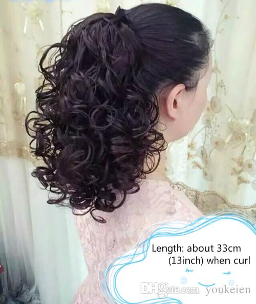 Brand New women's deep curly ponytail hair extensions pony hair