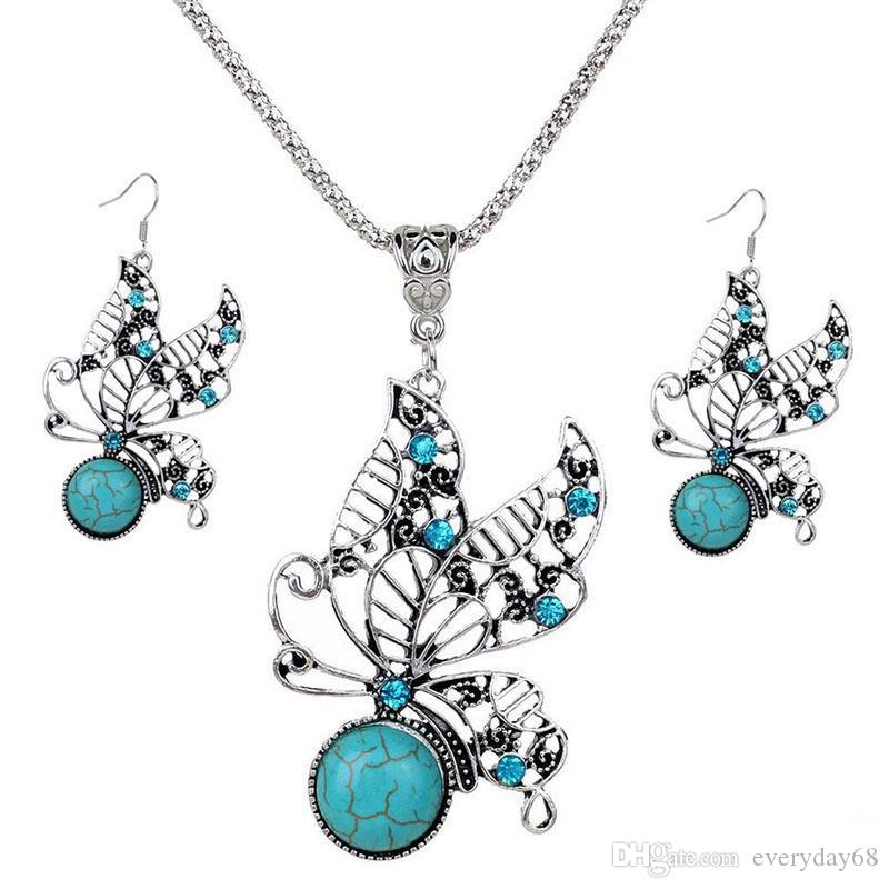 Jewelry Sets Acrylic Owl Peacock butterfly Necklace Earrings Bird Choker Collar Fashion Jewelry News Spring Women Girl Gift