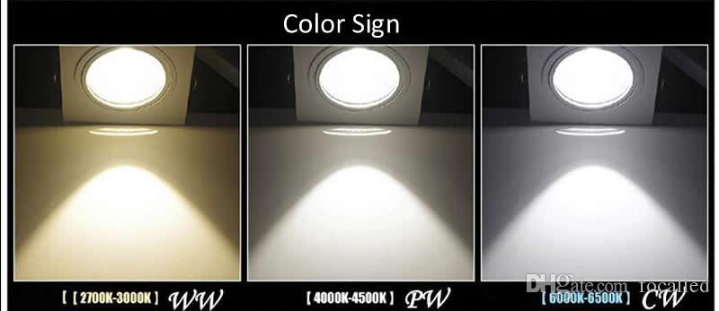 plafonniers menés LED COB downlight à LED 10W 15W dimmable led projecteur encastré AC110v 220v + conducteur UL UL SAA de la CE de conducteur