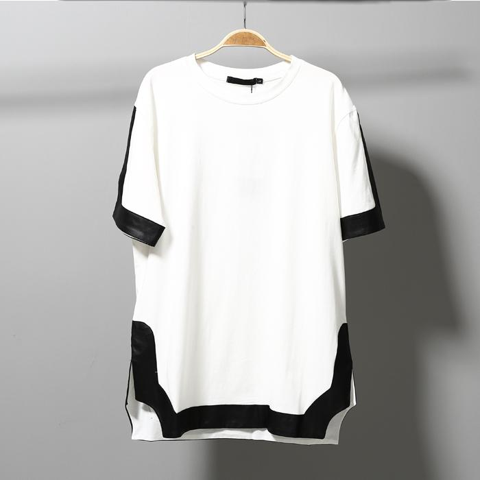2017 Summer Korean Cool High Quality T Shirt Men White And Black ...