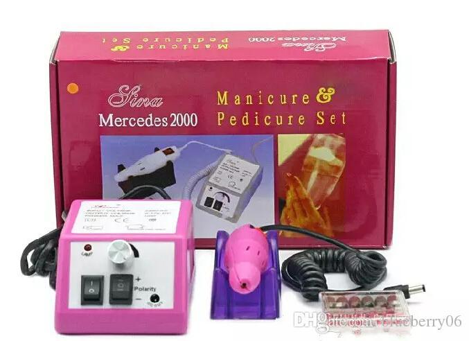 Macchina elettrica rosa professionale del manicure del trapano del chiodo con le punte 110v-240V spina di UE di facile impiego Trasporto libero