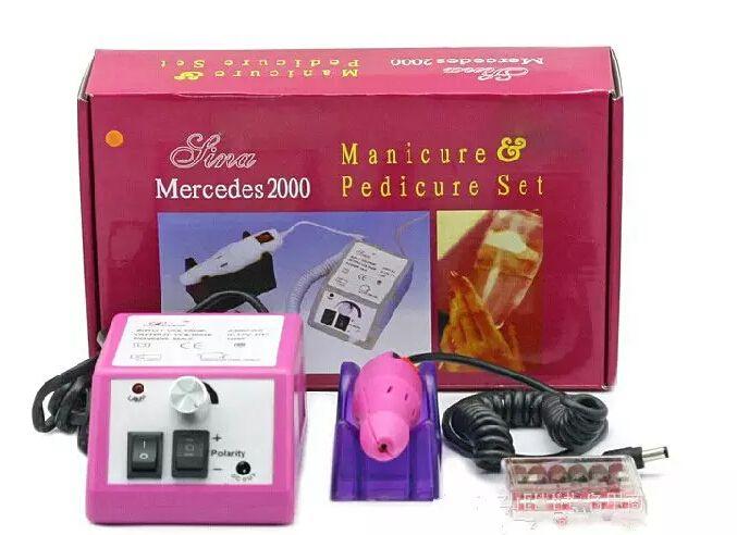Professionelle rosa elektrische Nagel-Bohrgerät-Maniküre-Maschine mit Bohrern 110v-240V EU-Stecker bedienungsfreundliches freies Verschiffen
