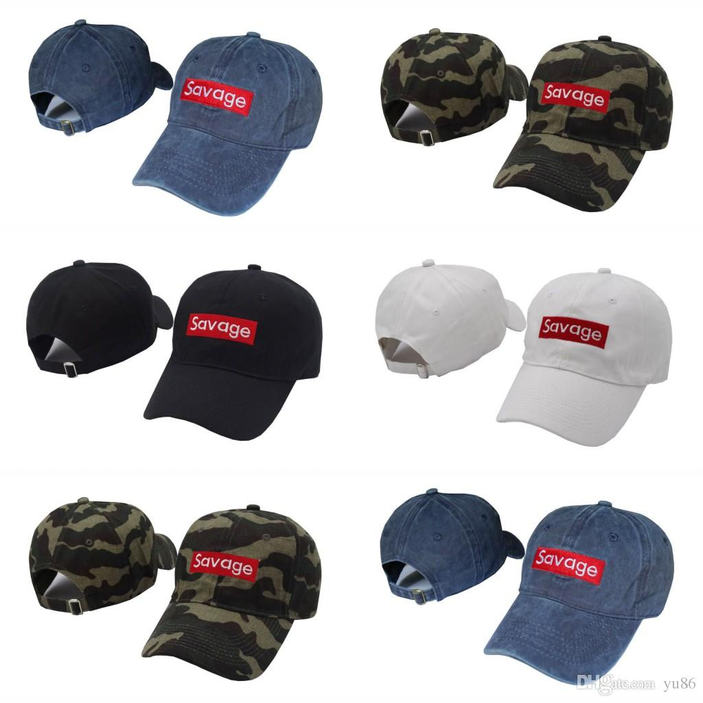 6501dae02de 2017 The New Savage Box Logo Dad Snapback Caps Kanye West Bear Dad ...