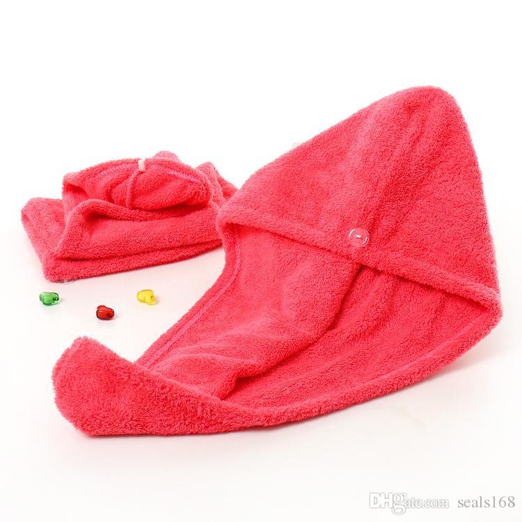 Cuffie da doccia Magic Quick Dry Capelli in microfibra Asciugamano Asciugatura Turban Wrap Hat Caps Spa Tappi da bagno PX-T04