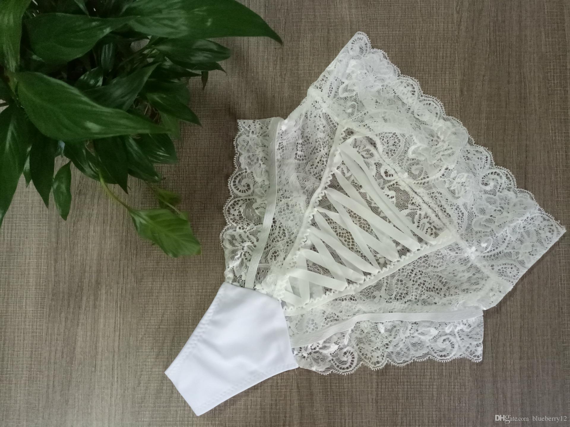 Nuevas mujeres de gran tamaño bragas atractivas del asno del cordón de la ropa interior ahuecan hacia fuera los pantalones escritos femeninos S-XXXL tamaño