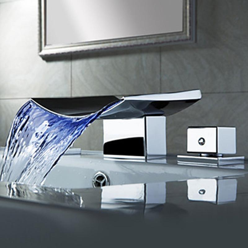 waterfall sink faucets