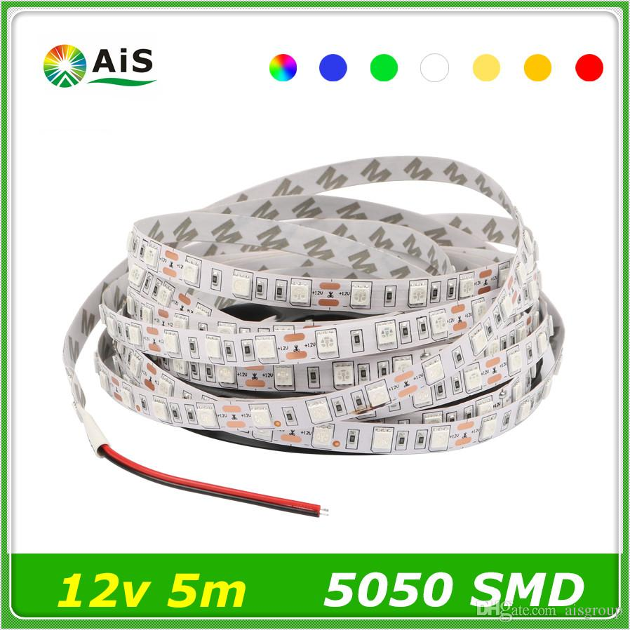 5m Led Strip Rgb Lights 5050 Smd Dc12v 60leds/M 300leds/Roll ...