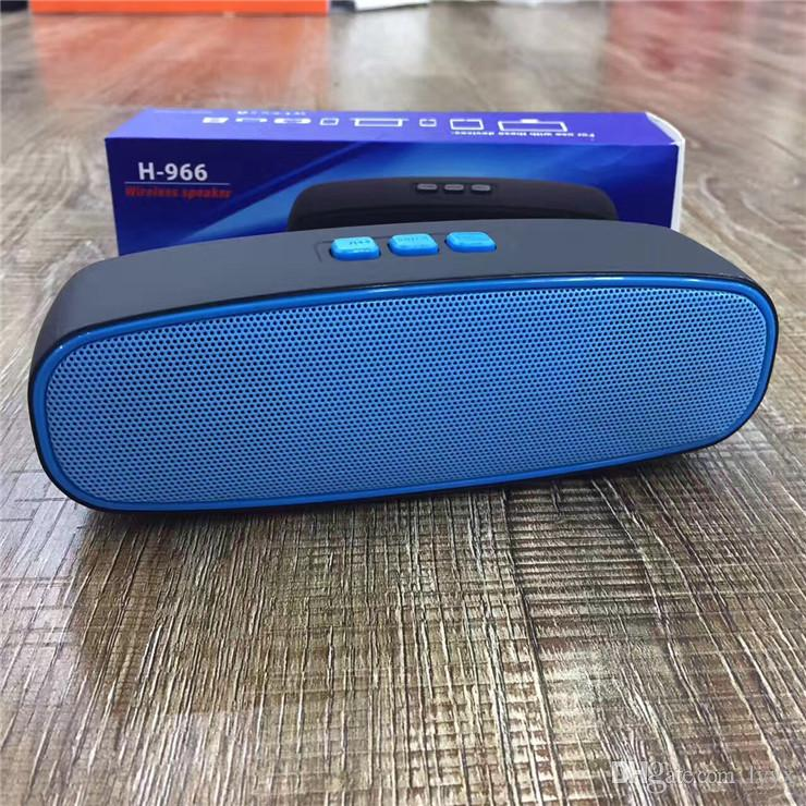 New Water Cube Bluetooth Speaker H-966 Outdoor Audio Mini Sound Bass Subwoofer Wireless Card Radio,Good Sounds Speaker