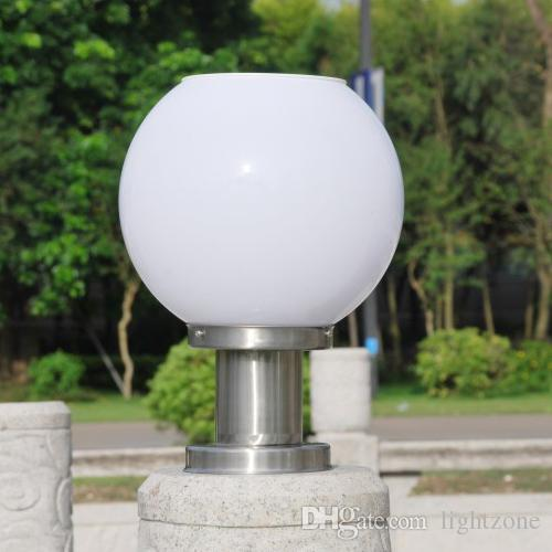 2017 Solar Power Led Garden Globe Light Stigma Lamp Spherical Circular  Landscape Post Lamp Ultra Bright For Outdoor Decorative Villa Squre Deck  From ...