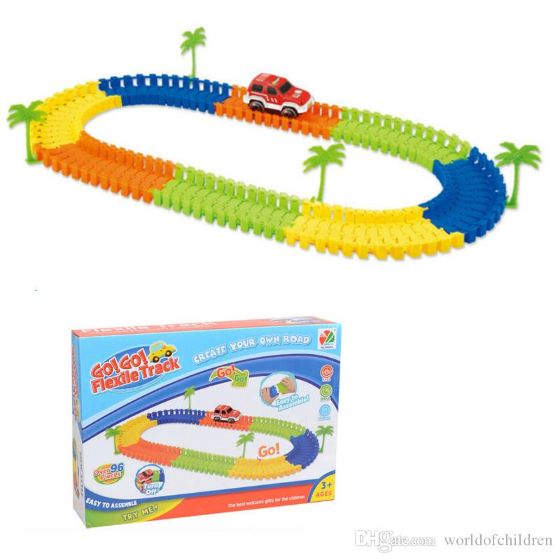 miraculous electronic racing car track kids toy childrens game boys xmas gift rail building block toy childrens educational toys education toys for kids