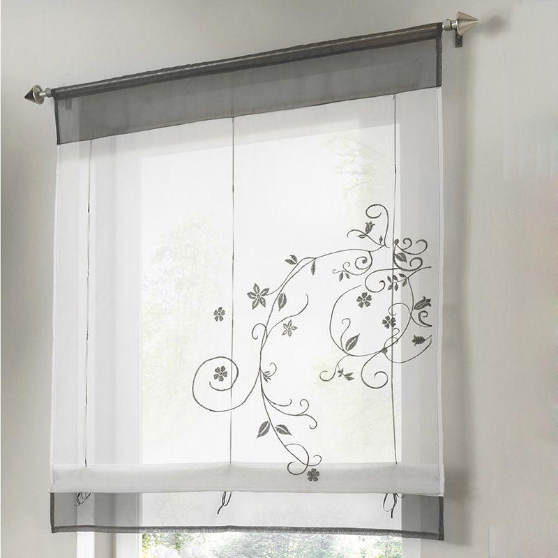 Merveilleux 2018 Kitchen Short Curtains Embroidery Roman Blinds White Sheer Panel  Window Treatment Door Curtains Home Decor Roman Shade Ji0334 From  Smileseller2010, ...