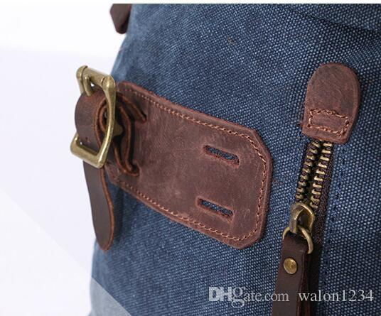 Старинные холст женщины рюкзаки мода новый простой дизайнер рюкзаки для мужчин женщин офис универсальный строка женские рюкзаки бесплатная доставка