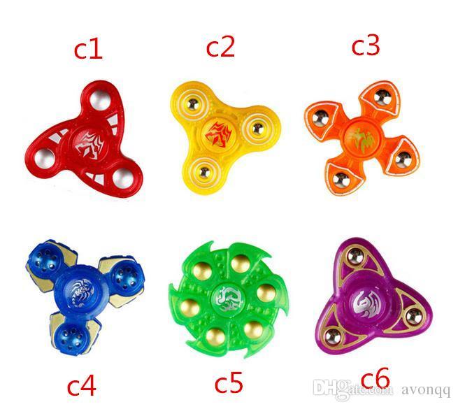 BFFA210 6 modèles spinner à la main en plastique deuxième génération des doigts doigts en spirale doigts gyro torqbar fidget spinner jouets de décompression