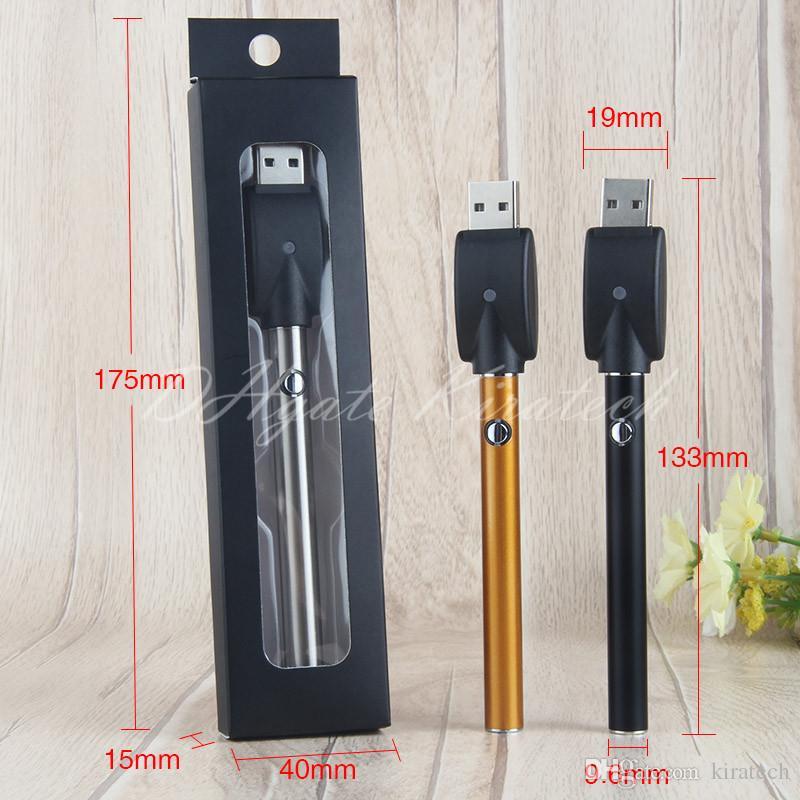 Push Button 280mah 510 Vape Pen Ecig Bud Battery For Vaporizer Cartridge Thick Oil Atomizer Button Pen Slim Cigarette Pens China direct DHL