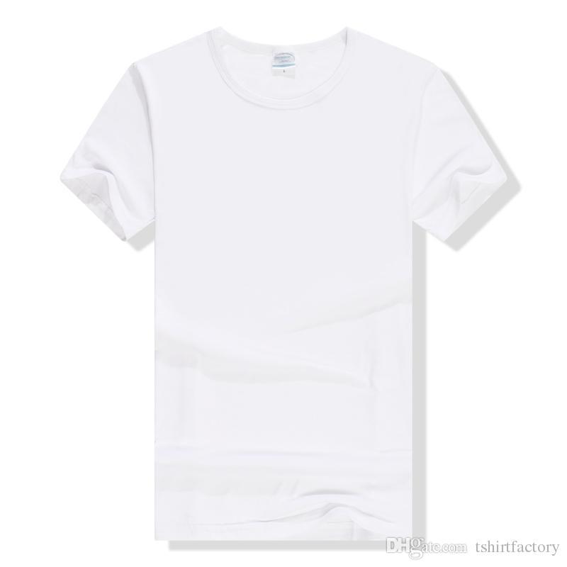 Man Solid Color T Shirt Basic Plain White Tees Street Wear