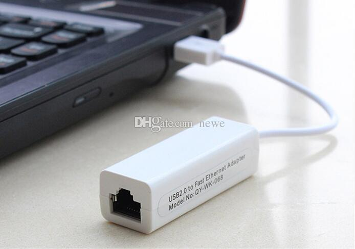 Popüler USB RJ45 USB 2.0 Yüksek Hızlı Ethernet Ağ LAN Adaptörü Kartı 10/100 Adaptör PC \ windows7 Laptop LAN adaptörü