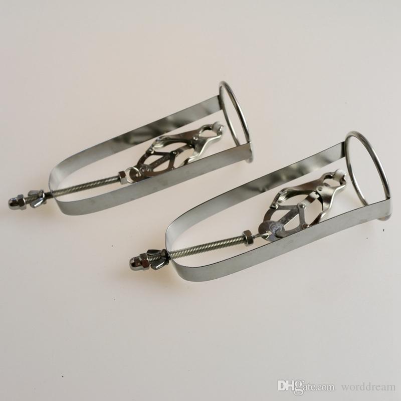 1 개 스테인레스 스틸 젖꼭지 클램프 금속 유방 클립 성인 커플 게임 페티쉬 섹스 제품 장난감 속박 슬레이브 구속