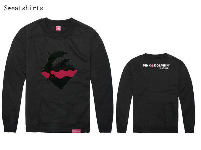 Pink dolphin sweatshirt men hip hop hoodie rock rap sweats cotton winter autumn clothes male clothing sportwear