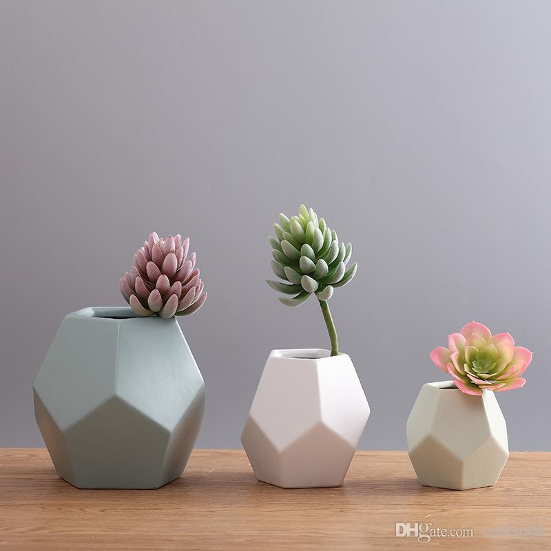 Mirror Flat Flower Pots Planters Hot Sale Flower Vases Ceramic Pots
