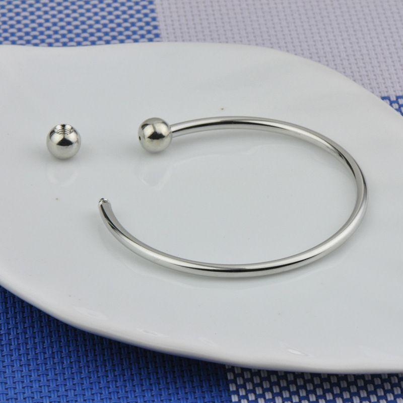 2016 hot 925 Sterling Silver Fill Mulheres Abertas Cuff Bangle 65 MM Tamanho Fit Europeu Beads Charm Bracelet