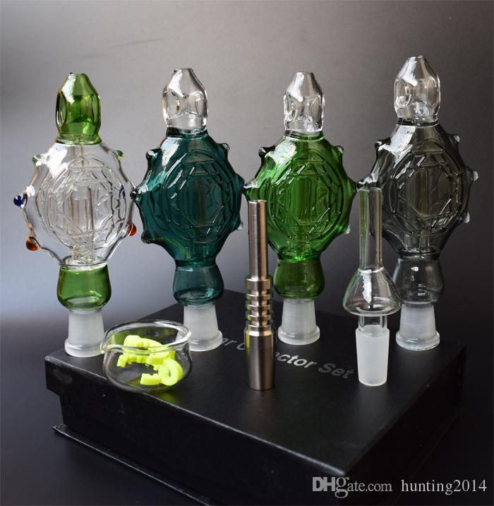 NEW NC Kits glass bongs Glass Smoking Pipes Pendants Domeles Titanium Nail glass bowl recycler DAB bong oil rig bong