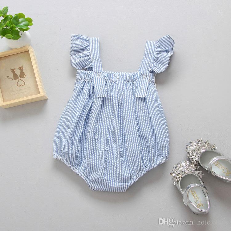fd3c5a5aded08 Best Newborn Clothes 2017 Summer Kids Baby Girl Infant Bow Knot Lotus  Collar Romper Sleeveless Jumpsuit Girls Clothes Sunsuit Outfit Kid Clothing  ...