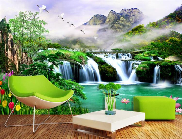 large custom 3d wallpapers waterfalls waterfall
