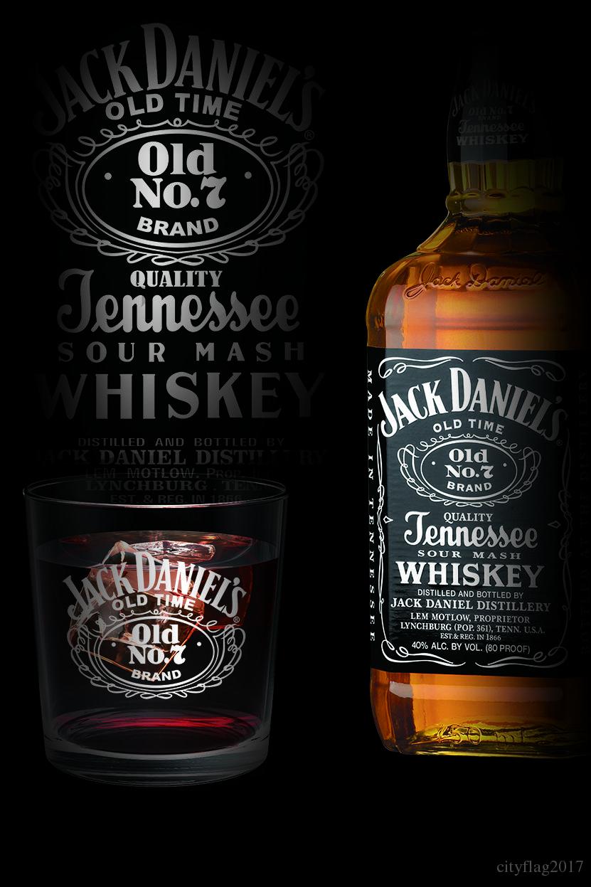 Großhandel Jack Daniels Flasche Und Glas Flagge Banner Mann Höhle ...