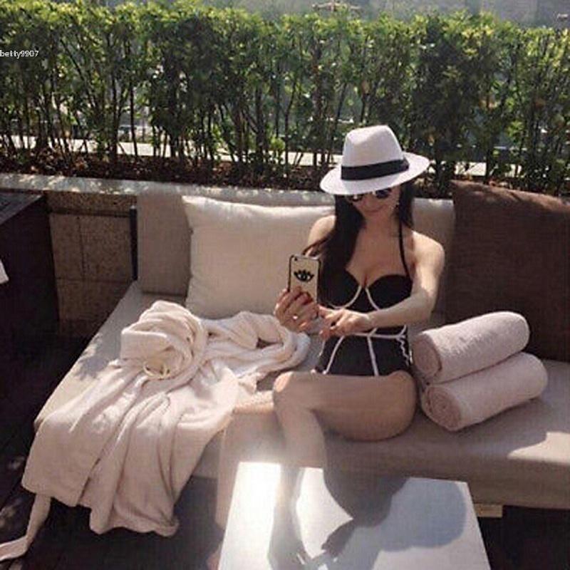 Новый дизайнер купальник для женщин с плеча суперзвезда мода Sexy цельный бикини пуш-ап мягкий купальники купальник