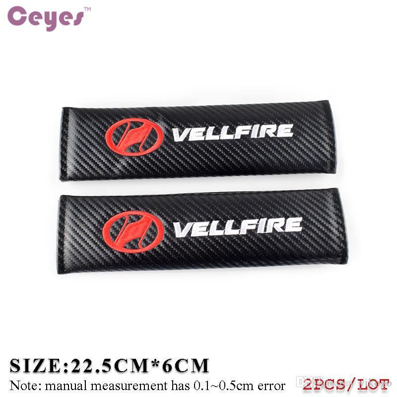Podkładki na ramię samochodów Pokrywa pasa bezpieczeństwa dla Vellfire Toyota Corolla Avensis C-HR Rav4 Auris Camry Węgla Bezpieczeństwa Bezpieczeństwa Car Styling 2 sztuk