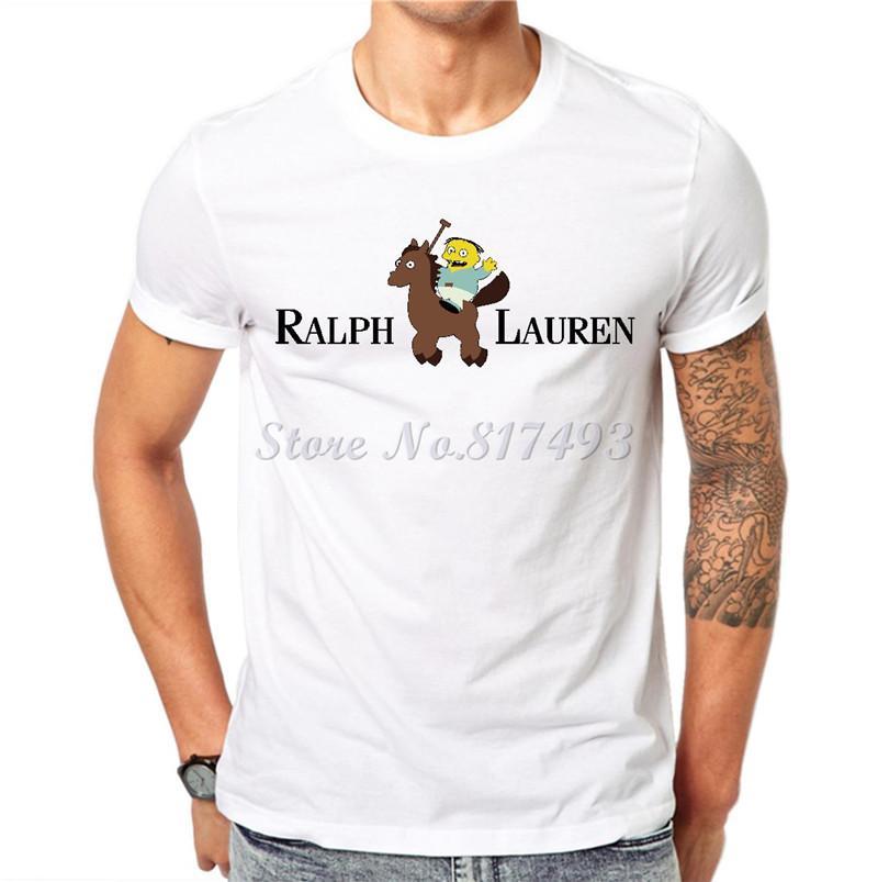 Wholesale New Funny Men\u0027S T Shirt 2017 Ralph Wiggum Lauren Cotton Male  Tshirt White Short Sleeve Tops Hipster Tees Clothing Jab01 Short Sleeve  Shirt Novelty ...