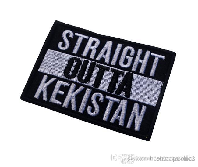 straight outta kekistan embroidered tactical patches for magic stick Armband patches Army patch jacket/cap morale patch free ship