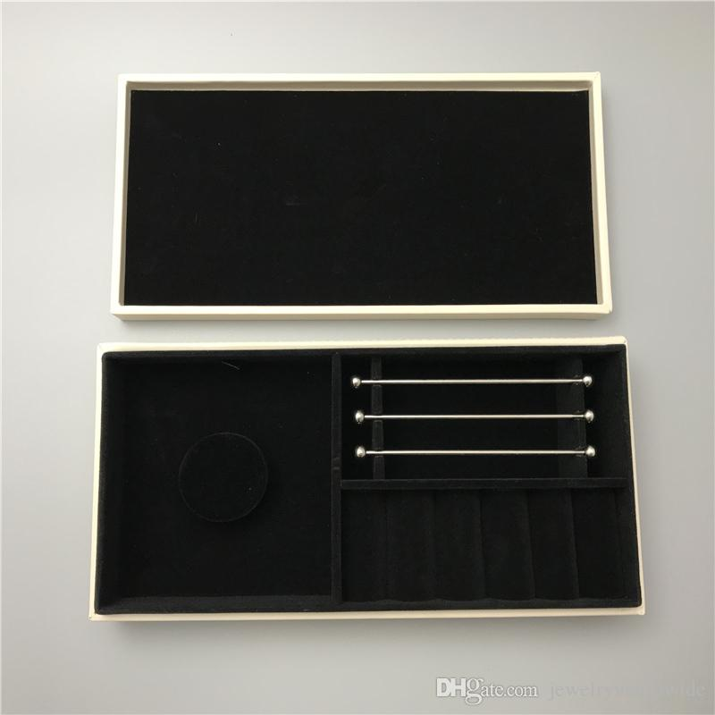 4 Different Box For Pandox Black Velvet Inside Jewelry Boxes With Mirror OR Two Layer For Necklace Pendant Bracelet Packaging Display