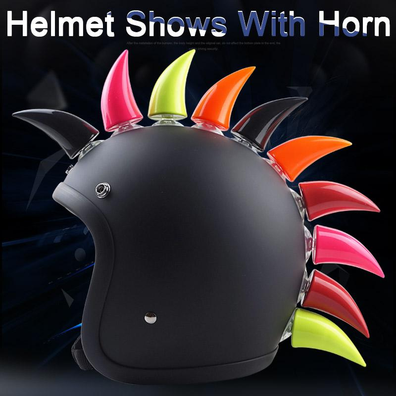 Universal Motorcycle Helmet Horn Decoration For Agv Hjc For Icon Ls2