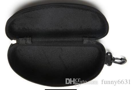 sert kılıf Fermuar Kanca Güneş Kutu Sıkıştırma Gözlük Kılıfı Siyah Metal Plastik Spor güneş kutusu kutusu ücretsiz nakliye gözlük