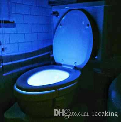 Bathroom Night Light 2017 bathroom rgb toilet cover lamp led dimming night light sales