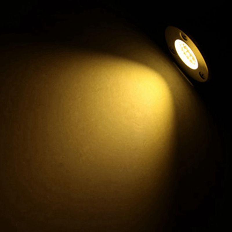 Edison2011 1W LED лампа подземных DC12V Водонепроницаемый IP67 Открытый Первый сад Путь этаж Подземный Похоронен Двор Пейзаж Лампы AC85-265V