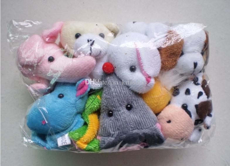 10 Arten niedlichen Tier Fingerpuppen Spielzeug kurze Zahnseide Baby Handpuppe Spielzeug Kinder Baby Früherziehung Finger Spielzeug Storytelling Requisiten
