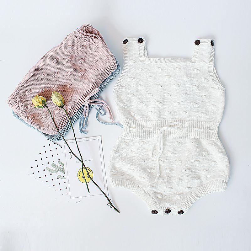 Ins Primavera Autunno Infantile Baby Pagliaccetti a maglia Ragazzi Ragazze Maglieria Tuta Maglione Pagliaccetto Bambini Toddlers Salire Vestiti i 3056