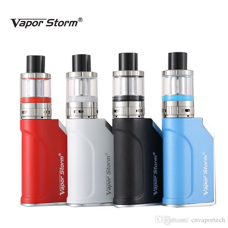 Mini Vape Mods Vapor Storm 50W TC Box Mod Electronic Cigarette Battery 1200mah E Cigarette Starter Kit VTank Sub Ohm Tank E cig