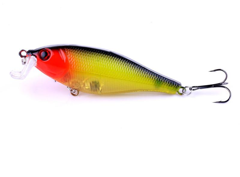 Best 3D ABS Plastic Rattlin Artificial bait 13.5g 7.5cm Bass Catfish Carp Trout Perch Diving Wobblers Fishing Lures